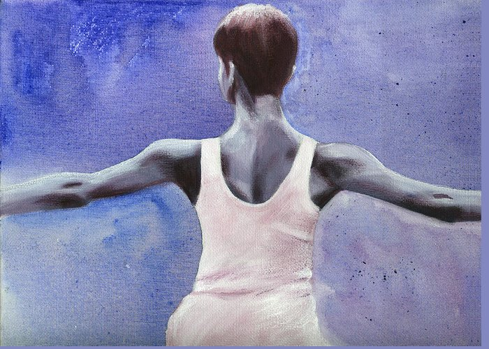 Dancer Greeting Card featuring the painting The Dancer by Fiona Jack