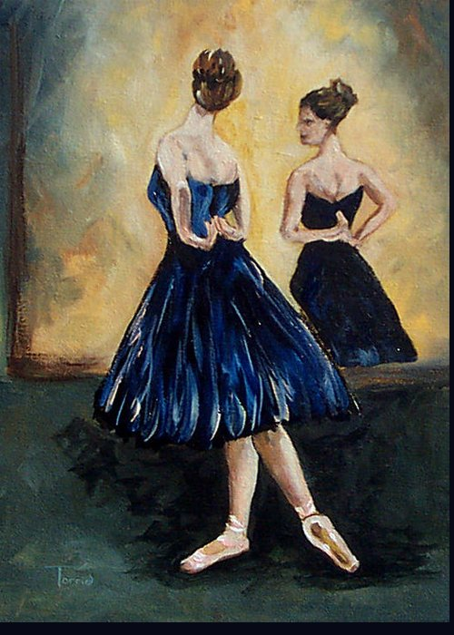 Ballet Greeting Card featuring the painting The Dancer by Torrie Smiley