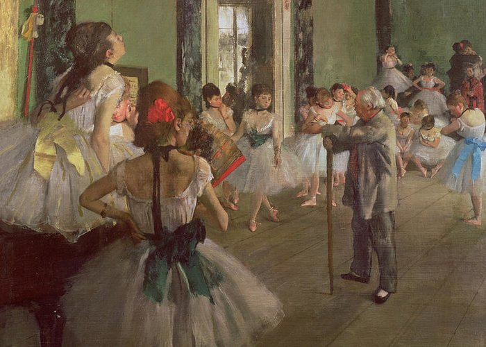 The Greeting Card featuring the painting The Dancing Class by Edgar Degas