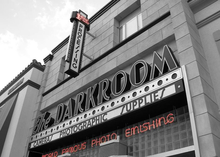City Greeting Card featuring the photograph The Darkroom by Audrey Venute