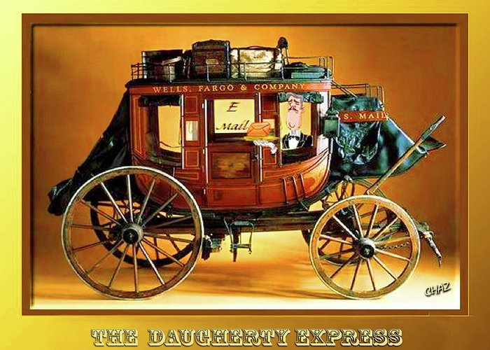Travel Greeting Card featuring the painting The Daugherty Express by CHAZ Daugherty