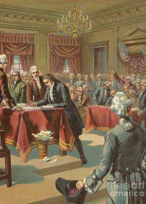 Philadelphia History Drawings Greeting Cards
