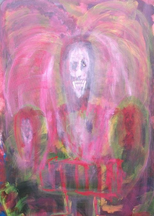 Vampire Greeting Card featuring the painting The Demon by Randall Ciotti
