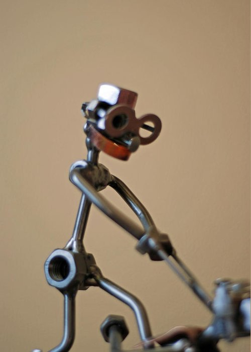 Sculpture Photo Greeting Card featuring the photograph The Dentist by Lisa Gabrius