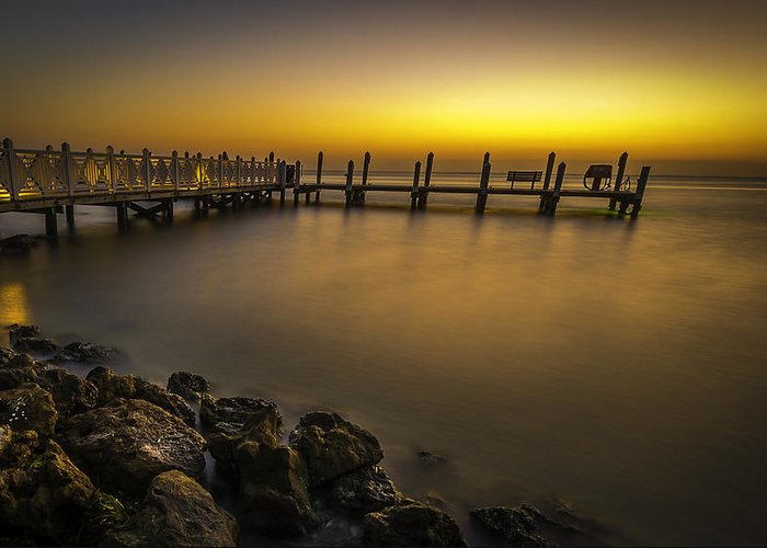 Dock Greeting Card featuring the photograph Captiva Sunrise by Francisco Gomez