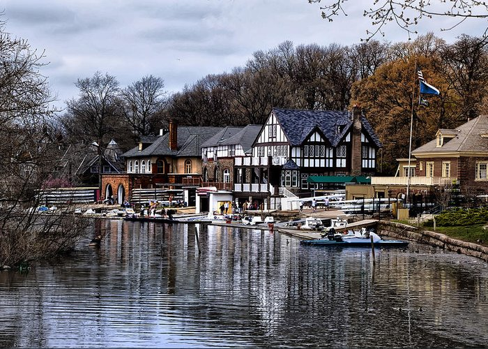 Docks Greeting Card featuring the photograph The Docks At Boathouse Row - Philadelphia by Bill Cannon