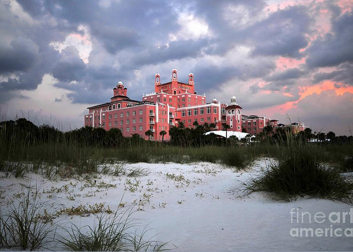 Don Cesar Hotel Greeting Card featuring the photograph The Don Cesar by David Lee Thompson