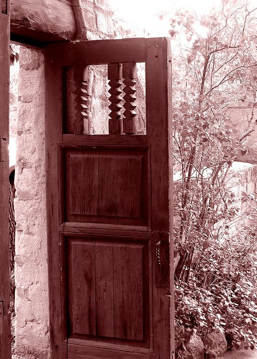 Door Greeting Card featuring the photograph The Door by Wayne Potrafka