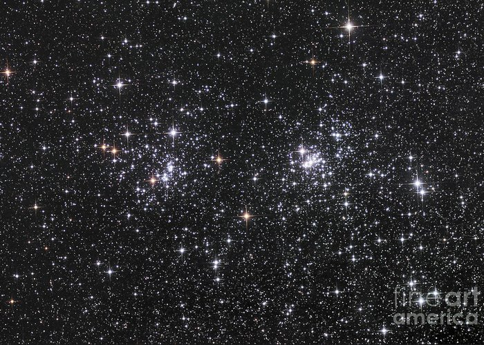 Double Cluster Greeting Cards