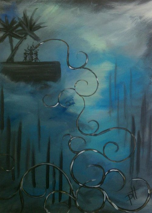 Dream Greeting Card featuring the painting The Dream by Patti Spires Hamilton