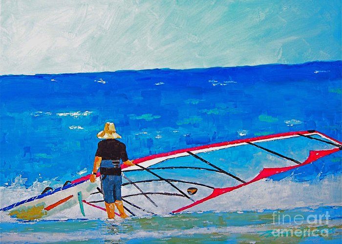 Beach Art Greeting Card featuring the painting The Dreamer Disease I by Art Mantia