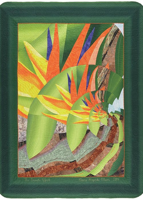 Elaine Ellison Greeting Card featuring the tapestry - textile The Droste Effect by Elaine F Ellison