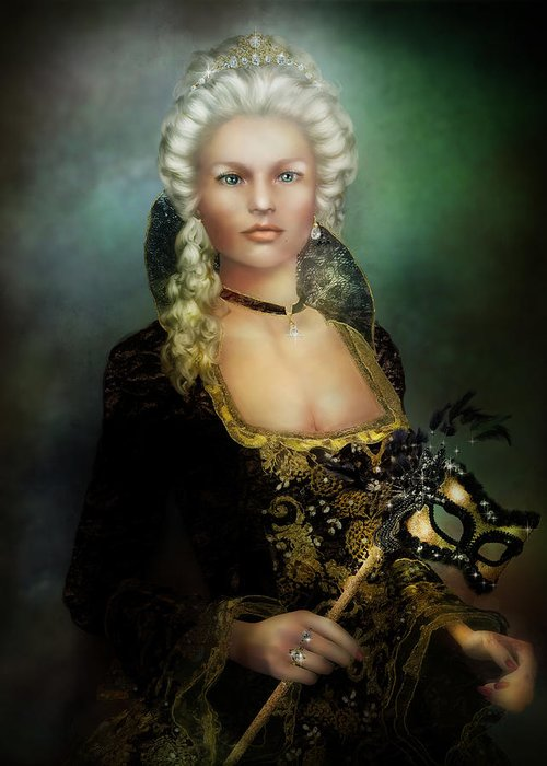 Duchess Greeting Card featuring the digital art The Duchess by Mary Hood