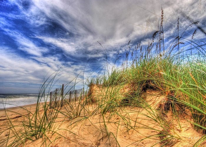 Water Greeting Card featuring the photograph The Dunes by E R Smith