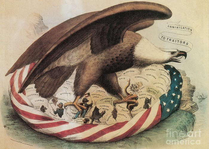 War Of Secession Greeting Cards