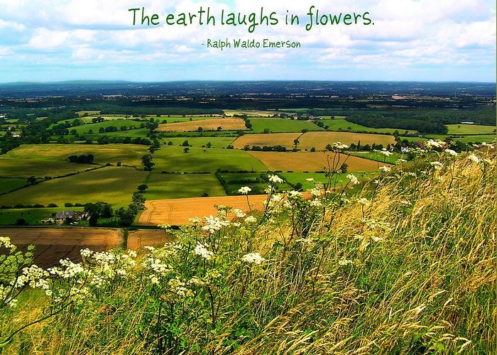 Affirmation Greeting Card featuring the photograph The Earth Laughs In Flowers by Jen White