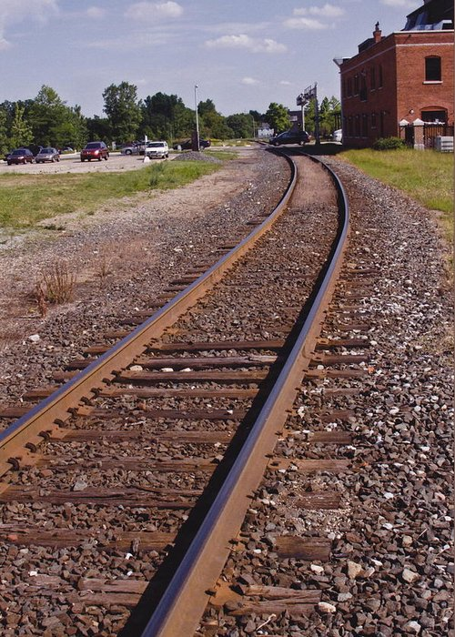 Train Greeting Card featuring the photograph The Edge by Xn Tyler