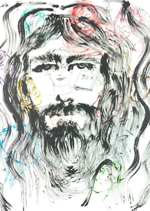 Jesus Greeting Card featuring the painting The Emotions Of Jesus by Nadine Rippelmeyer