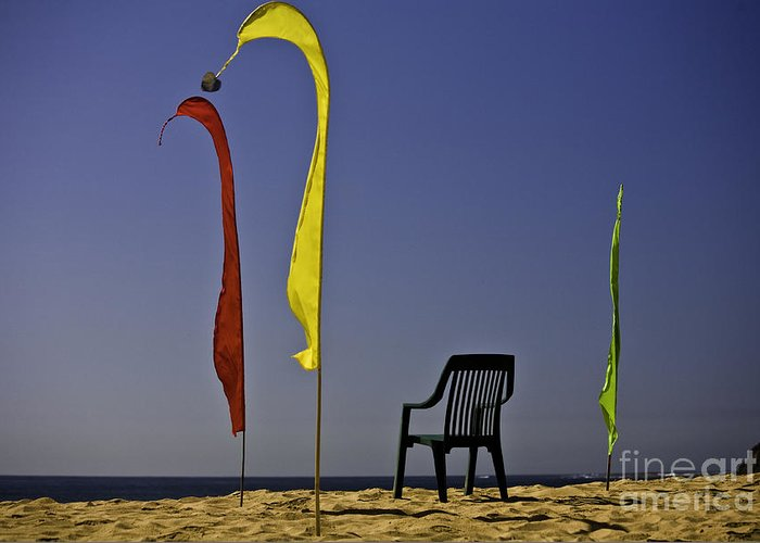 Beach Greeting Card featuring the photograph The Empty Chair by Sheila Smart Fine Art Photography