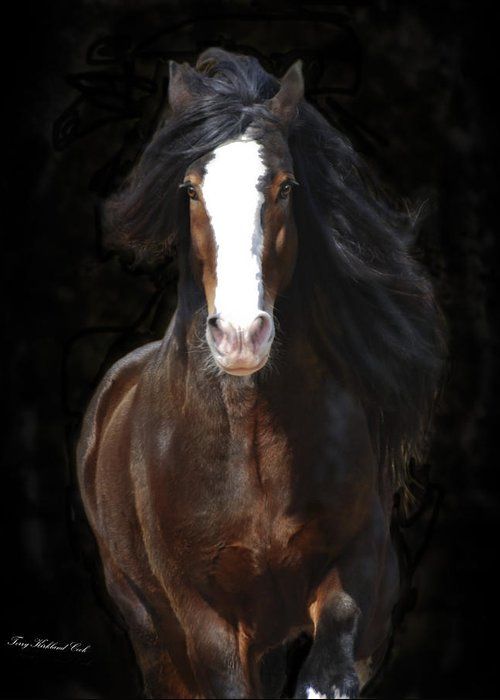 Equine Greeting Card featuring the photograph The English Shire As Art by Terry Kirkland Cook