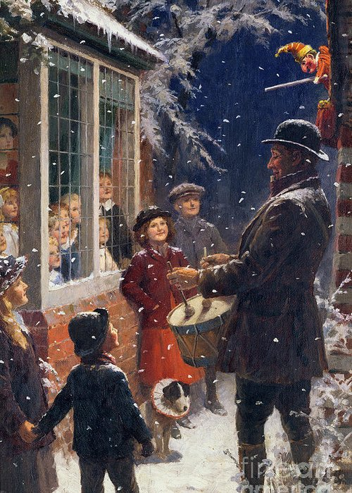 The Greeting Card featuring the painting The Entertainer by Percy Tarrant