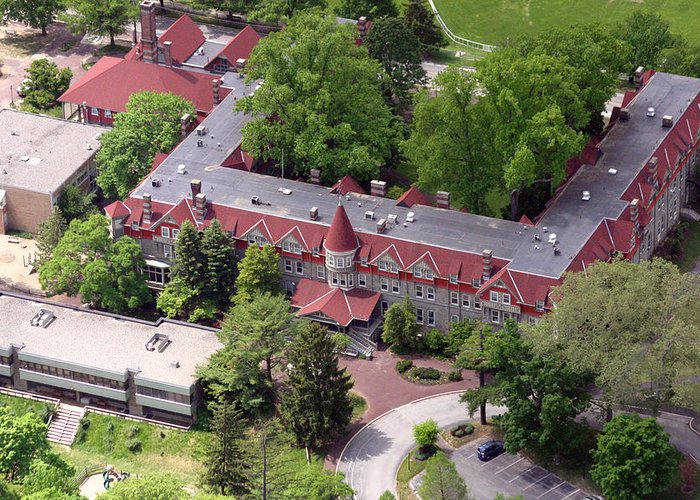 Cha Greeting Card featuring the photograph The Exchange Chestnut Hill Academy by Duncan Pearson
