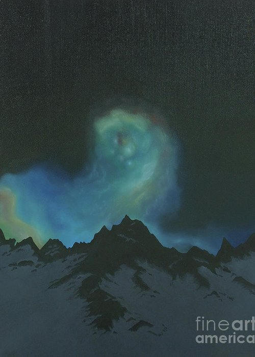 Realism Greeting Card featuring the painting The Eye Of The Star by Tui Sada