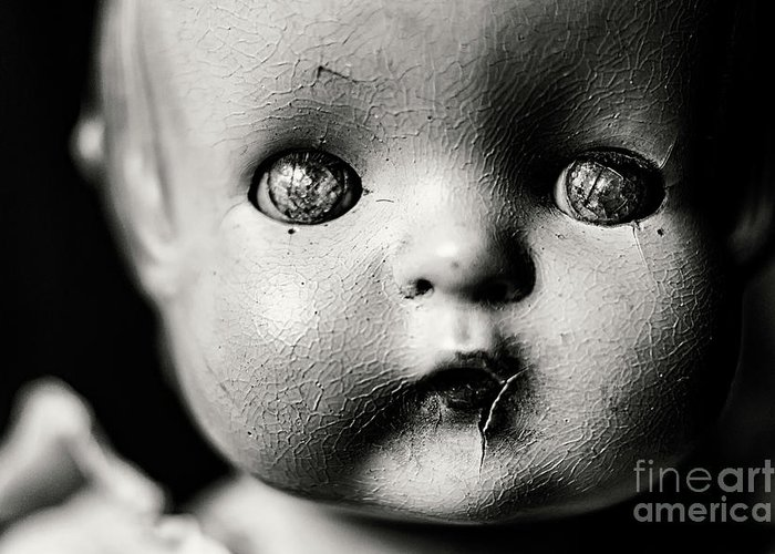 Doll Greeting Card featuring the photograph The Eyes by Cara Walton