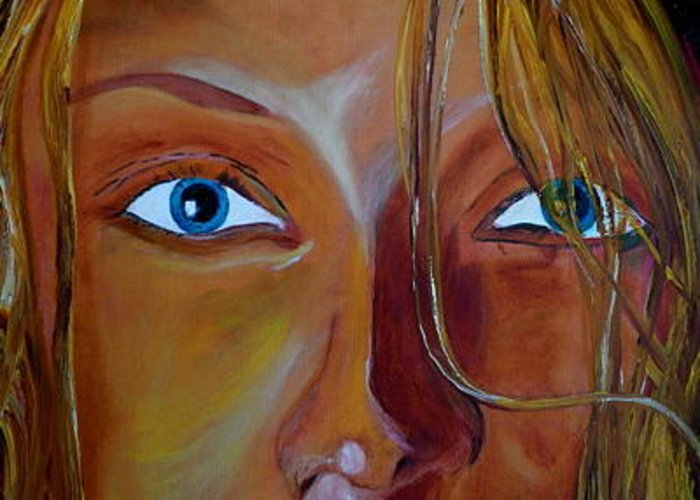 Oil Painting Greeting Card featuring the painting The Eyes Of The Muse by Gregory Allen Page