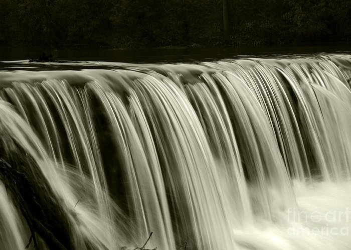 Waterfalls Greeting Card featuring the photograph The Falls by Timothy Johnson