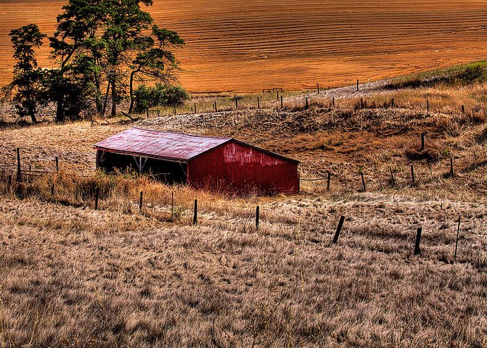 Landscape Greeting Card featuring the photograph The Farm by David Patterson