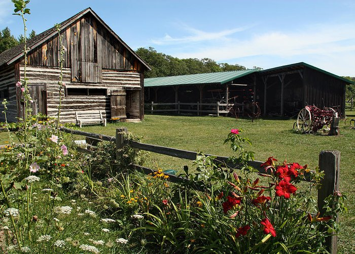 Washington Island Farm Museum Greeting Card featuring the photograph The Farm by Joanne Coyle