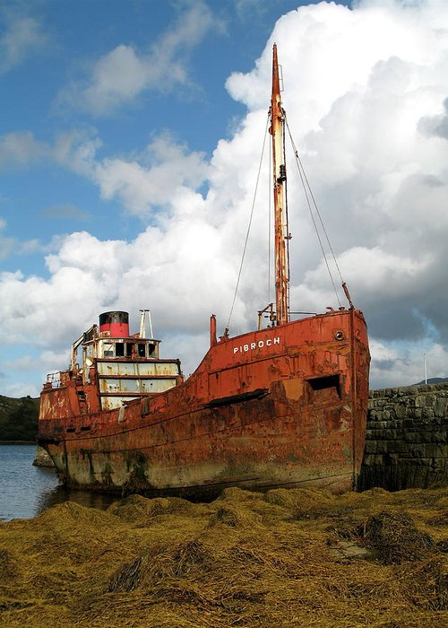 Boat Greeting Card featuring the photograph The Fate Of Poor Pibroch by Porter Glendinning