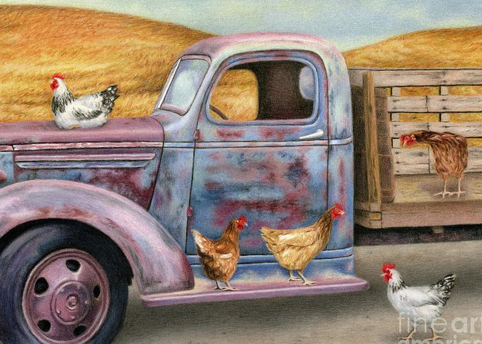 Chicken Coop Greeting Cards