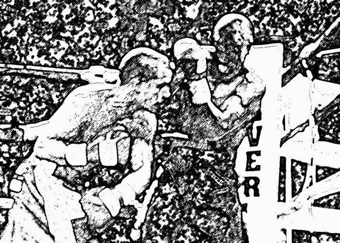 Prize Fighting.boxing Greeting Card featuring the photograph The Follow Through by David Lee Thompson