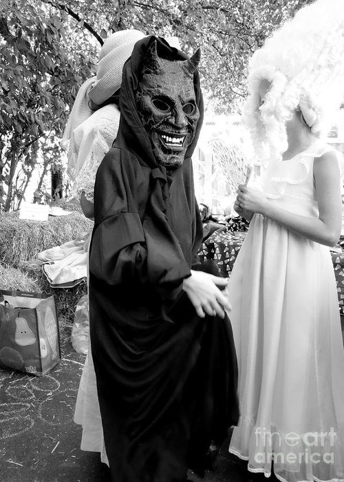 Halloween Ozag Greeting Card featuring the photograph The Force by Linda Ozag