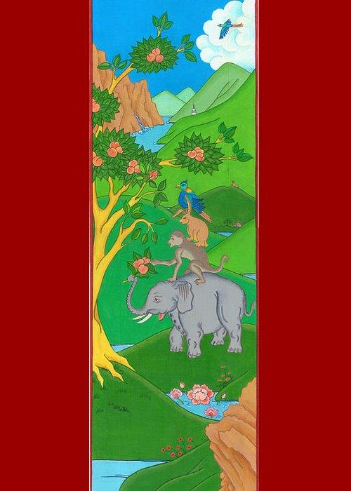 Tibetan Buddhism Drawings Greeting Cards