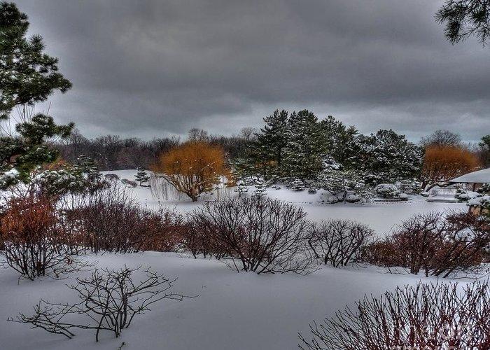Chicago Botanical Garden Greeting Card featuring the photograph The Garden In Winter by David Bearden