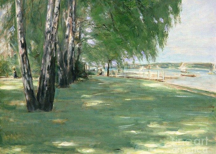 The Greeting Card featuring the painting The Garden Of The Artist In Wannsee by Max Liebermann