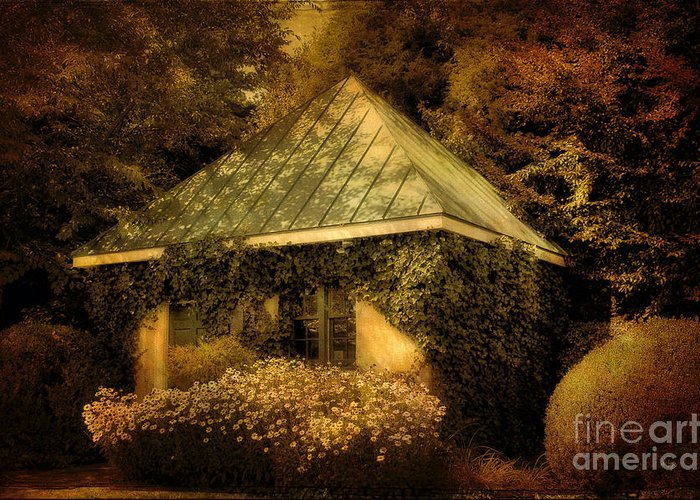 Gatehouse Greeting Card featuring the photograph The Gatehouse by Lois Bryan