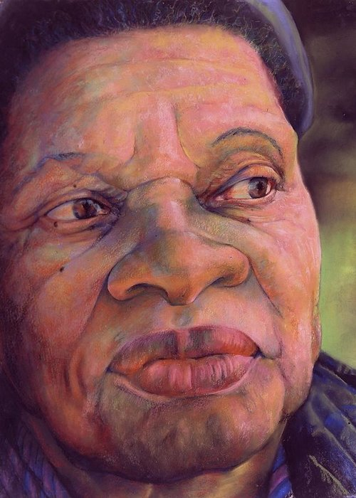 Women Greeting Card featuring the pastel The Gaze Of Mother Witt by Curtis James