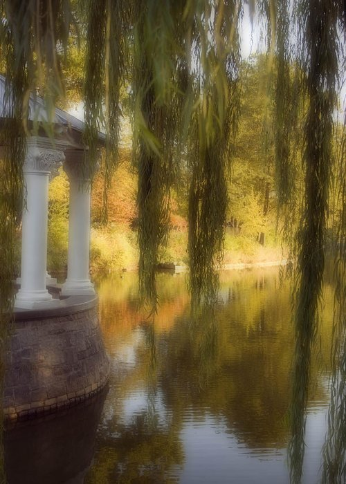 Water Greeting Card featuring the photograph The Gazebo by Ayesha Lakes