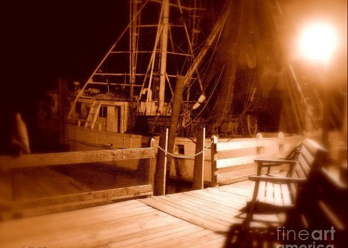 Night Greeting Card featuring the photograph The Ghost Ship by Patricia L Davidson