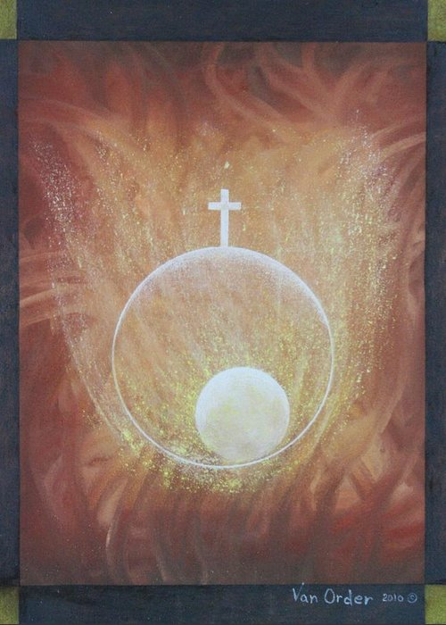 Birth Greeting Card featuring the pastel The Gift Of Life by Richard Van Order