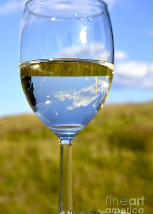 Pinot Grigio Greeting Card featuring the photograph The Glass Is Half Full by Thomas R Fletcher