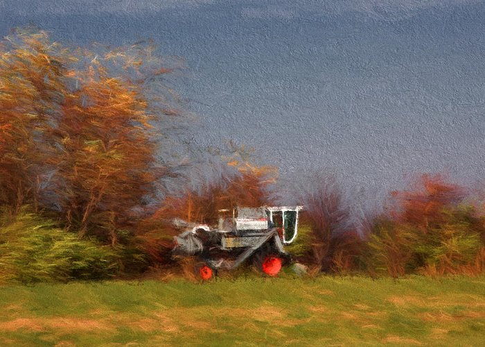 Harvest Greeting Card featuring the photograph The Gleaner In Repose by John Freidenberg