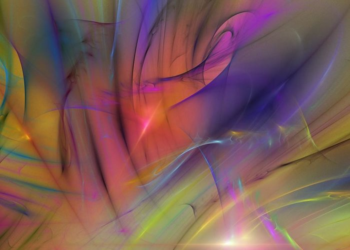 Abstract Greeting Card featuring the digital art The Gloaming by David Lane