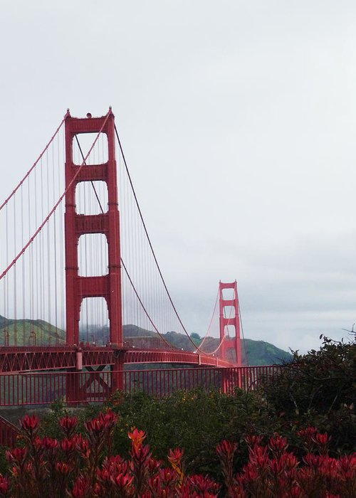 Bridge Greeting Card featuring the photograph The Golden Gate by Jenny May