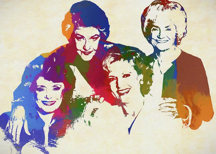 the golden girls greeting card for sale by dan sproul