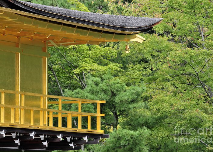 Kinkaku-ji Greeting Card featuring the photograph The Golden Temple by Andy Smy